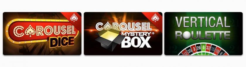 Carousel casino jeux de table